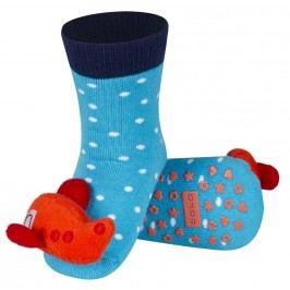 SOXO® Chlapecké protiskluzové ponožky s letadlem - modré