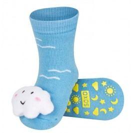 SOXO® Chlapecké protiskluzové ponožky s mráčkem - modré