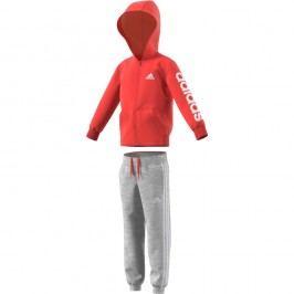adidas Chlapecká tepláková souprava LK HOJO - šedo-červená