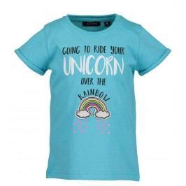 Blue Seven Dívčí tričko s duhou - tyrkysové