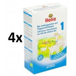 Holle BIO počáteční dětská mléčná výživa na bázi kozího mléka 1 - 4x400g