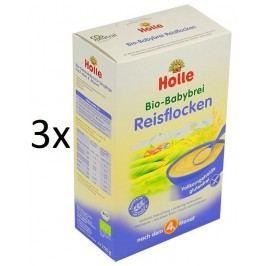 Holle BIO rýžová bezmléčná kaše 3x250g