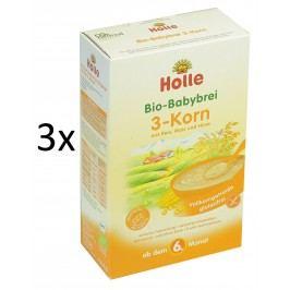 Holle BIO 3 druhy zrna, bezmléčná kaše 3x250g