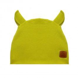 Benni Chlapecká čepice s oušky - žlutá