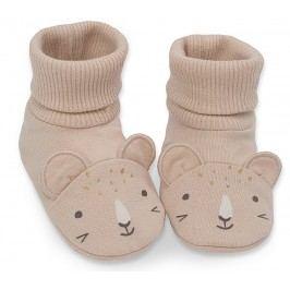 Pinokio Dívčí ponožky/capáčky Sweet Panther - oranžové