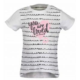 Blue Seven Dívčí tričko se srdcem - bílé