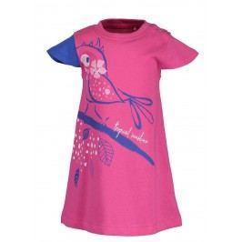Blue Seven Dívčí šaty s ptáčkem - růžové
