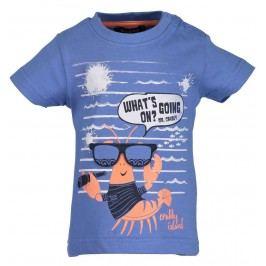 Blue Seven Chlapecké tričko s rakem - modré