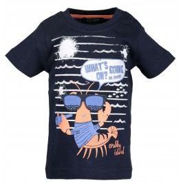 Blue Seven Chlapecké tričko s rakem - tmavě modré
