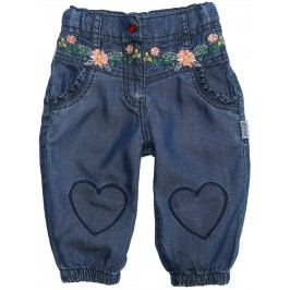Gelati Dívčí capri kalhoty Flowers - modré