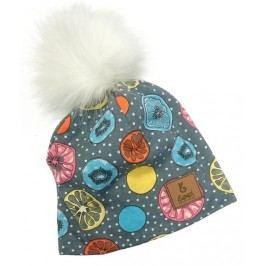 Bexa Dívčí čepice s fleecem Crazy Fruits - barevná