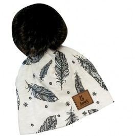 Bexa Dívčí čepice s fleecem Piórko - béžová