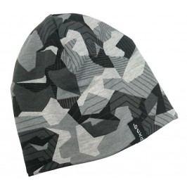 Bexa Chlapecká vzorovaná čepice s fleecem  Maro - šedá
