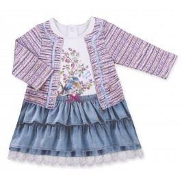Kitikate Dívčí šaty s 3D designem Harika - barevné