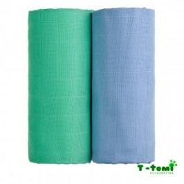 T-tomi Látkové TETRA osušky 100x90, sada 2ks, modrá+zelená