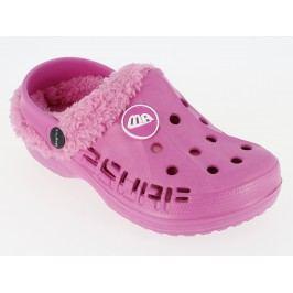 V+J Dívčí zateplené sandály - růžové