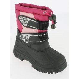 V+J Dívčí sněhule - černo-růžové