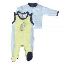 2be3 Chlapecký dvojkomplet Želva - modro-žlutý