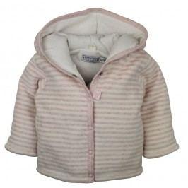 Dirkje Dívčí pruhovaný kabátek - růžový