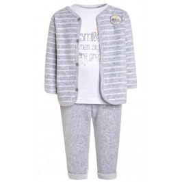 Blue Seven Dětský trojkomplet s počasím - bílo-šedý