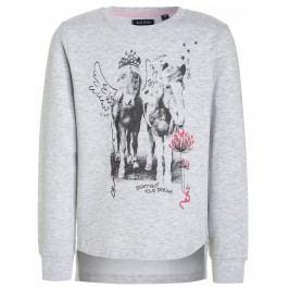 Blue Seven Dívčí mikina s koňmi - šedá