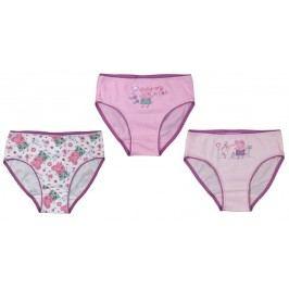 E plus M Dívčí set 3ks kalhotek Peppa Pig - růžový