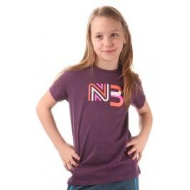 Nordblanc Dívčí tričko s potiskem - fialové