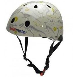 Kiddimoto Cyklistická helma Fossil - zelená, velikost S