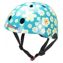 Kiddimoto Cyklistická helma Fleur - modrá, velikost M