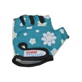 Kiddimoto Cyklistické rukavice Fleur - modré, velikost S