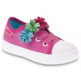 Befado Dívčí tenisky s květinami Funny - růžové