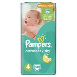 Pampers Active Baby Maxi 4, 58ks (7-14 kg) - jednorázové pleny