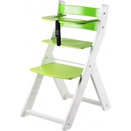 WOOD PARTNER Dětská rostoucí židle LUCA bílá/zelená
