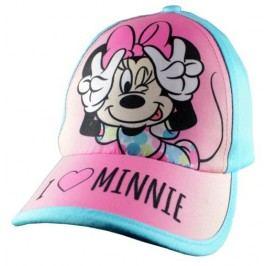 E plus M Dívčí kšiltovka Minnie - modro-růžová