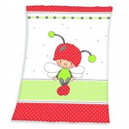 Herding Dětská deka s beruškou, 75x100 cm
