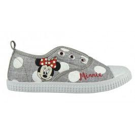 Disney Brand Dívčí plátěné tenisky Minnie - šedé