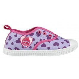 Disney Brand Dívčí plátěné tenisky Trollové - růžové