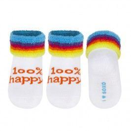 SOXO® Dětské ponožky 100% happy - bílé