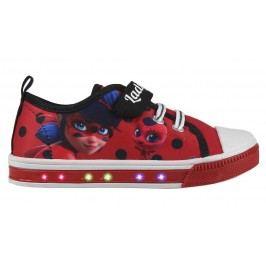 Disney Brand Dívčí blikací tenisky Ladybug - červené
