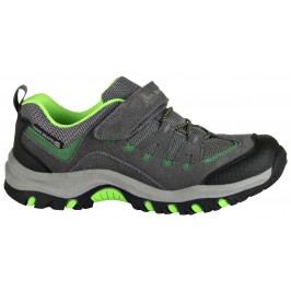 ALPINE PRO Chlapecká outdoorová obuv Riono - šedo-zelená