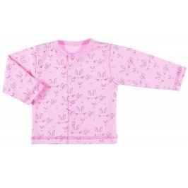 Ewa Klucze Dívčí kabátek s králíčky Lovely - růžový