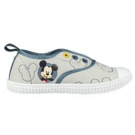 Disney Brand Chlapecké plátěné tenisky Mickey Mouse - šedé