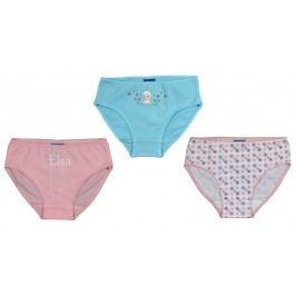 E plus M Dívčí set 3ks kalhotek Frozen - barevný