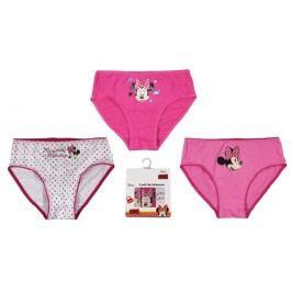 E plus M Dívčí set 3ks kalhotek Minnie - růžový