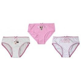 E plus M Dívčí set 3ks kalhotek Minnie - růžovo-bílý