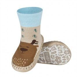 SOXO® Chlapecké protiskluzové ponožky  s jelenem - béžovo-hnědé