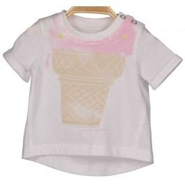 Blue Seven Dívčí tričko se zmrzlinou - bílé