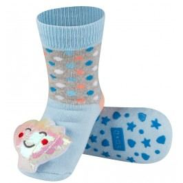 SOXO® Dívčí protiskluzové ponožky s mušlí - modré