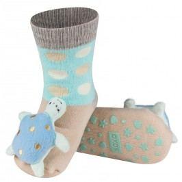 SOXO® Chlapecké protiskluzové ponožky s želvičkou- hnědé