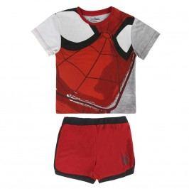 Disney Brand Chlapecký set trička a kraťasů Spiderman - červeno-šedý